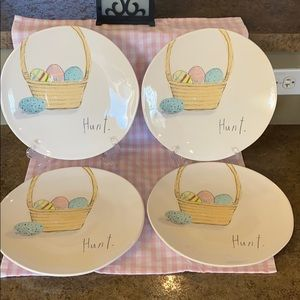 "Rae Dunn Hunt 11"" Dinner Plates-Set of 4"
